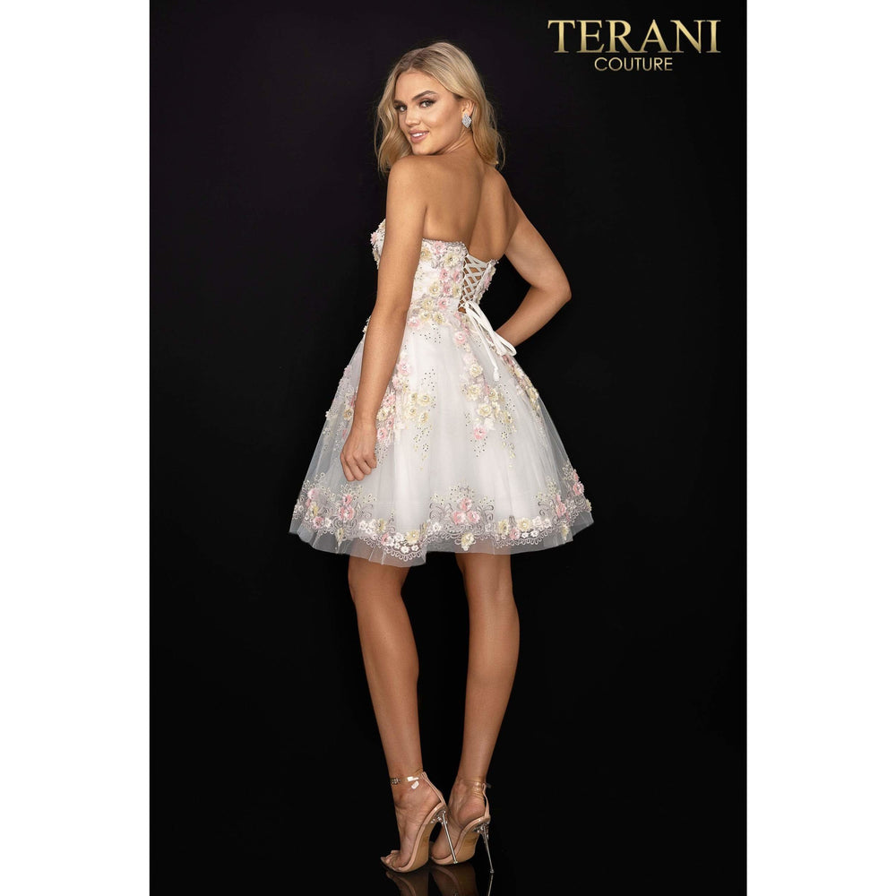 Terani Couture Prom Dress Floral prom sweetheart neckline short ball gown – 2011P1025