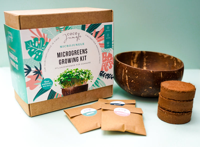 """I want it all"" - Microgreens Growing Kit + 2 Coco Bowls"