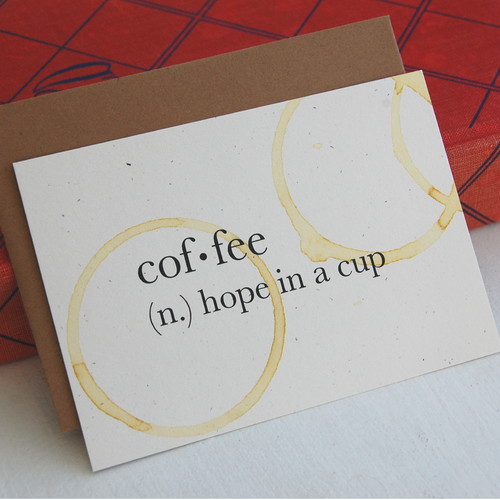 Coffee Definition Card
