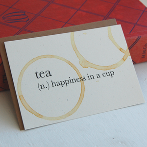 Tea Definition Card