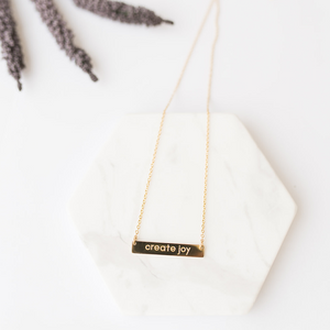 """Create Joy"" Necklace - Gold"