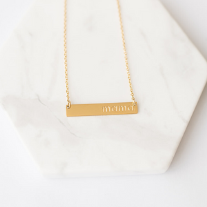 """Mama"" Necklace - Gold"