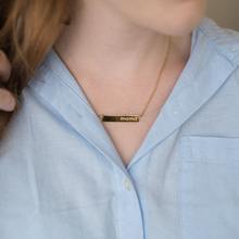 "Load image into Gallery viewer, ""Be Present"" Necklace - Gold"