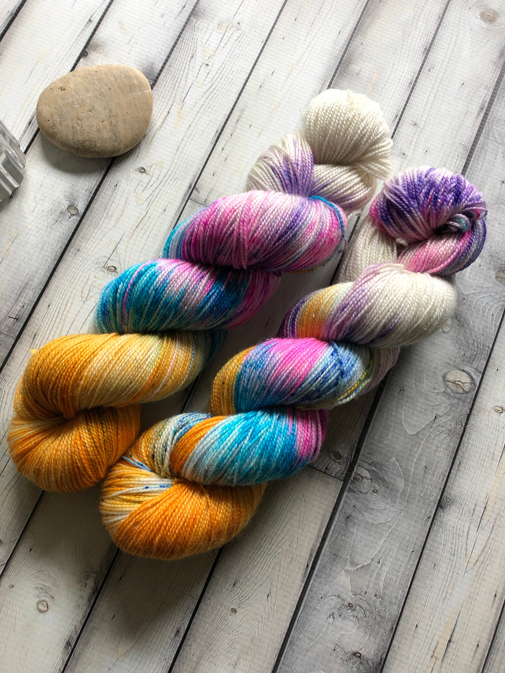 hand dyed sparkle yarn