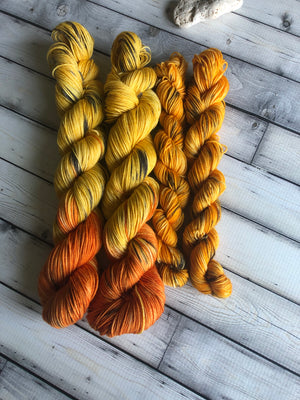 yellow sock yarn