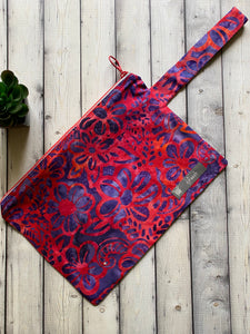Project Bag - Hot Pink and Purple Flowers - DJ Zip Bag