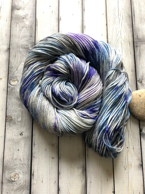 hand dyed blue yarn