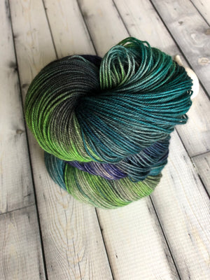 blue green sock yarn