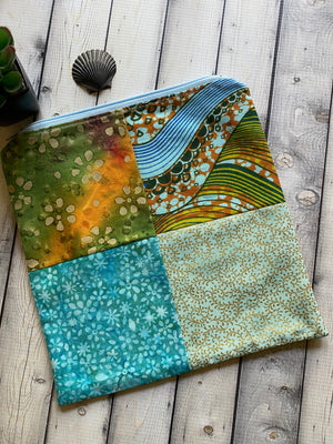 african cloth zipper pouch