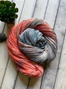 salmon on grime yarn