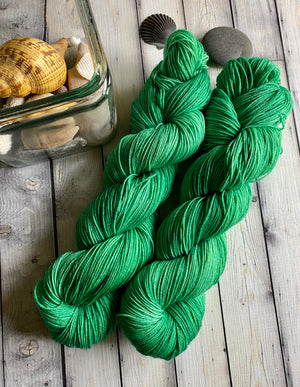green sock yarn