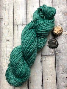 bulky green yarn