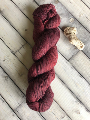 dark red yarn