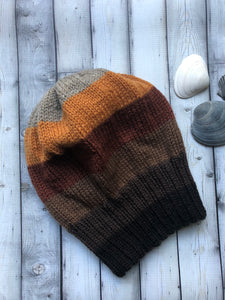 Big Head Beanston Slouch Hat - Fall Browns