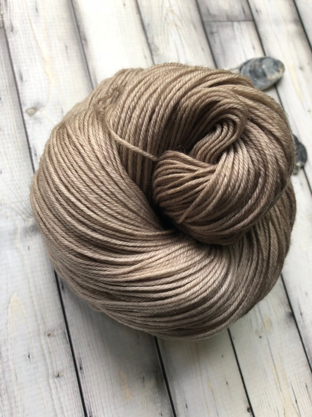hand dyed taupe yarn