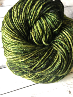 dark green yarn