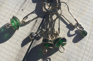 Stitch Marker Set - Sweet Greens