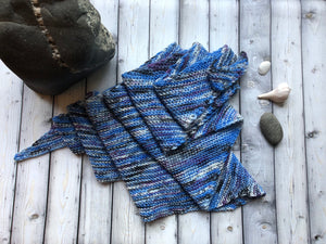 Hand Knit Shawl - Do These Jeans?