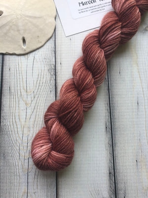 20g Sock Yarn Mini Skein - Maroon Tonal