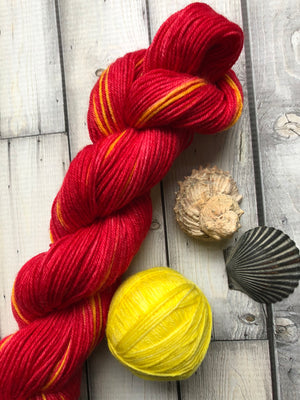 red sock yarn
