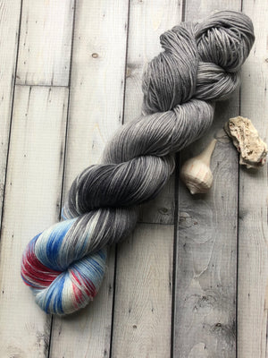 hand dyed variegated sock yarn