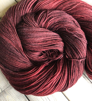 kettle dyed red yarn