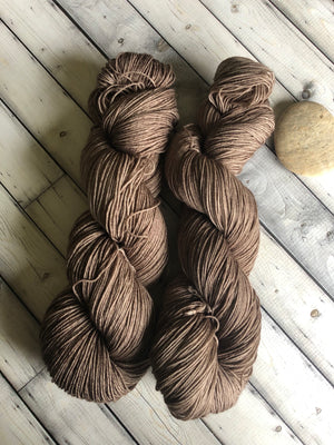 brown sock yarn
