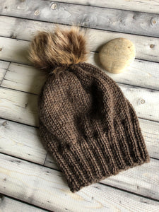 hand knit childs hat