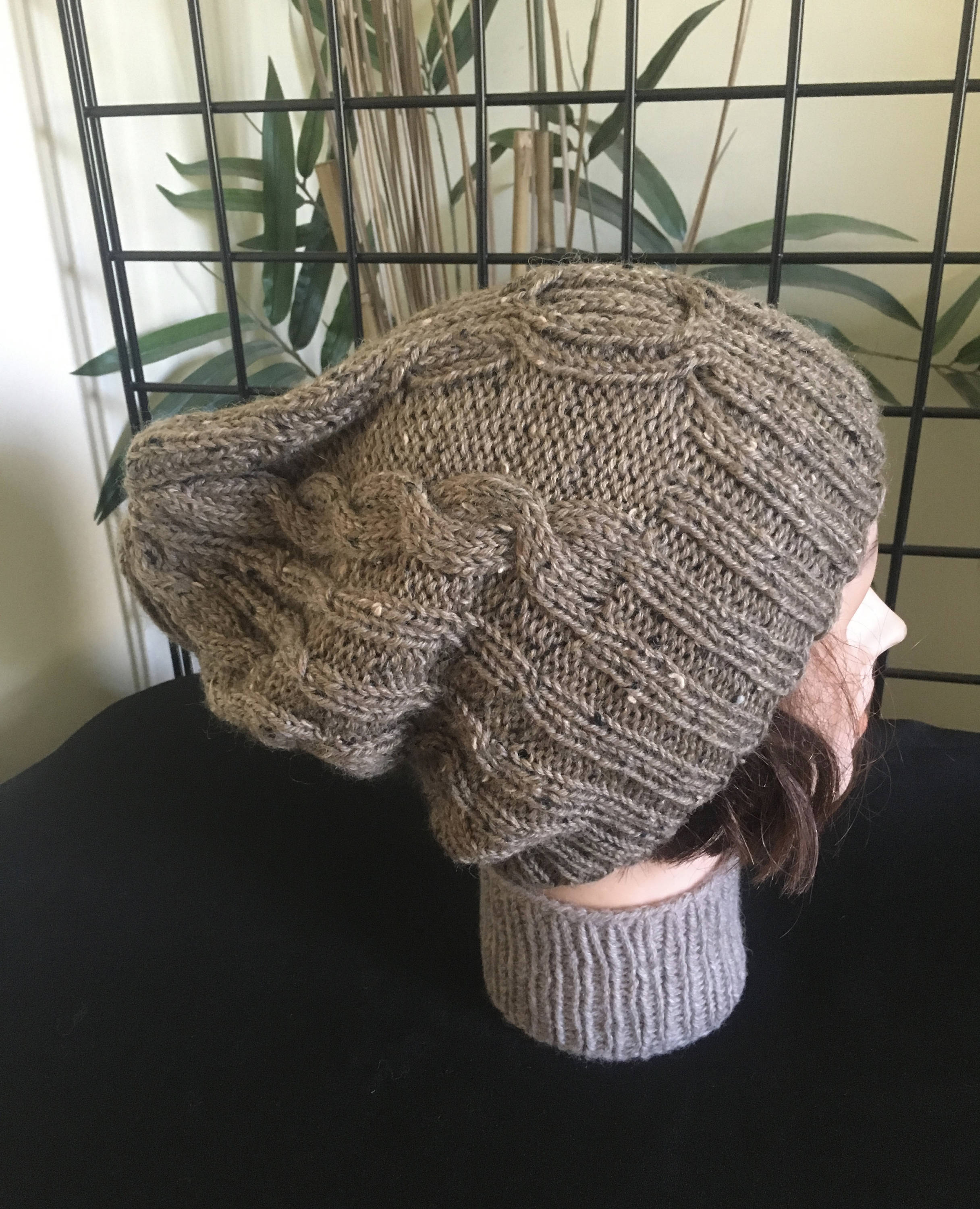 Big Head Wiltshire Cable Hat - Sand Tweed