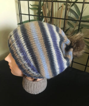 Big Head Bromley Slouch Pom Pom Hat - Denim Blues