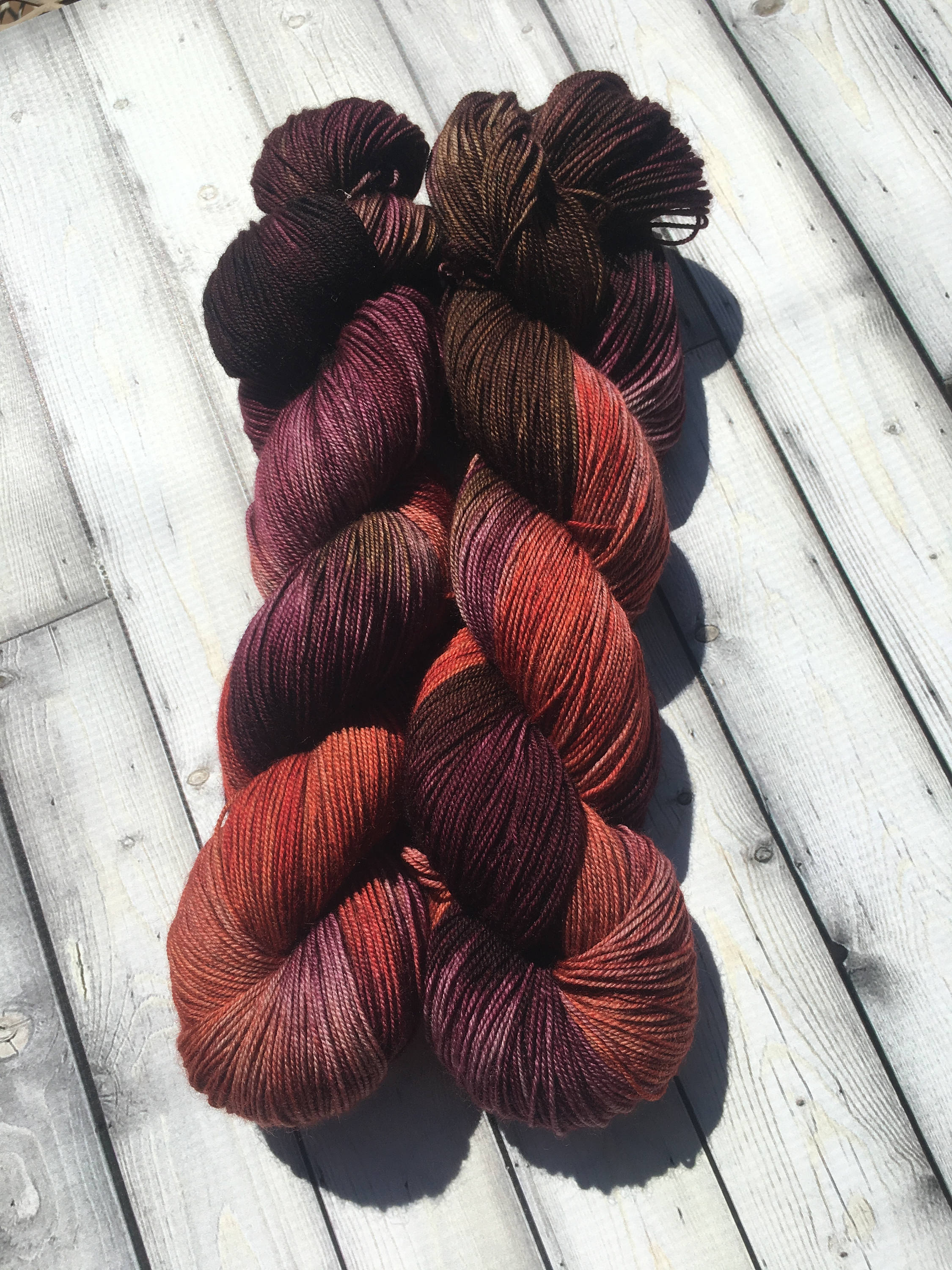 Yak Sock Yarn - Make Mine Mulled - DJ Deep