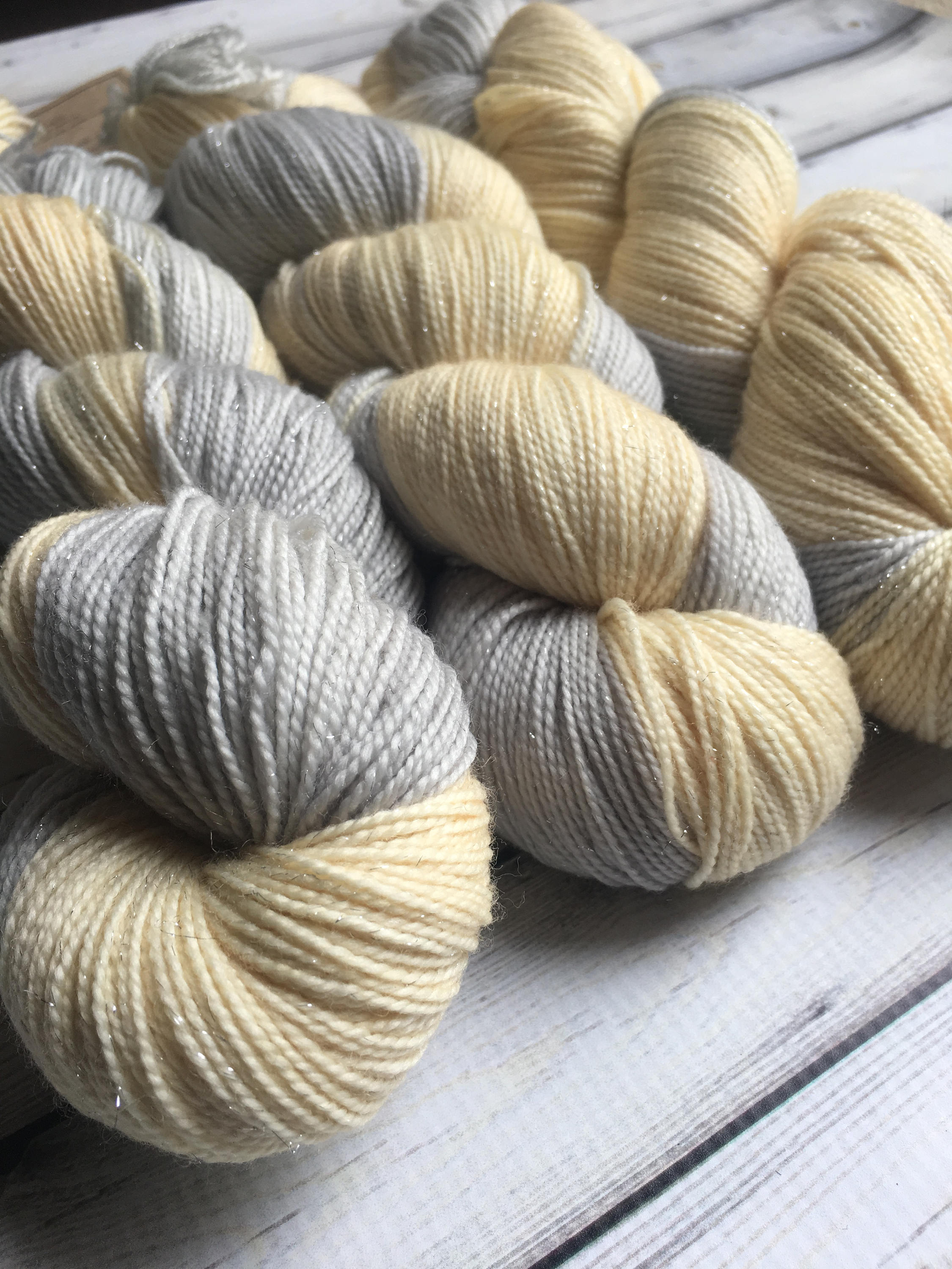 Sparkle Sock Yarn - Who Dropped Pearls in My Champagne Glass