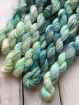 10g Sock Yarn Micro Mini Skein - Steeped Greens