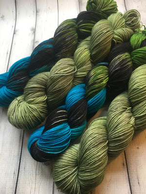 Sock Yarn Set - Dark Ocean + 40th and Broadway