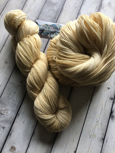straw yellow yarn