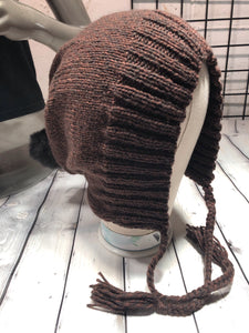 knitted hoodie hat