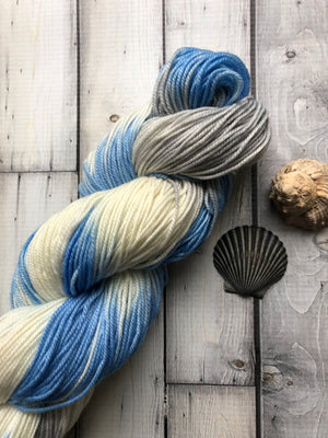 blue sock yarn