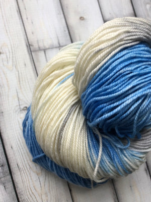 blue variegated yarn