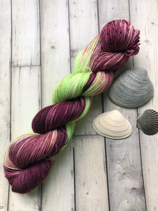 Plum and Chartreuse Sock Yarn