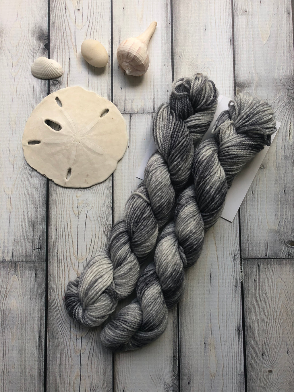 20g Sock Yarn Mini Skein - Stormy Gray Tonal