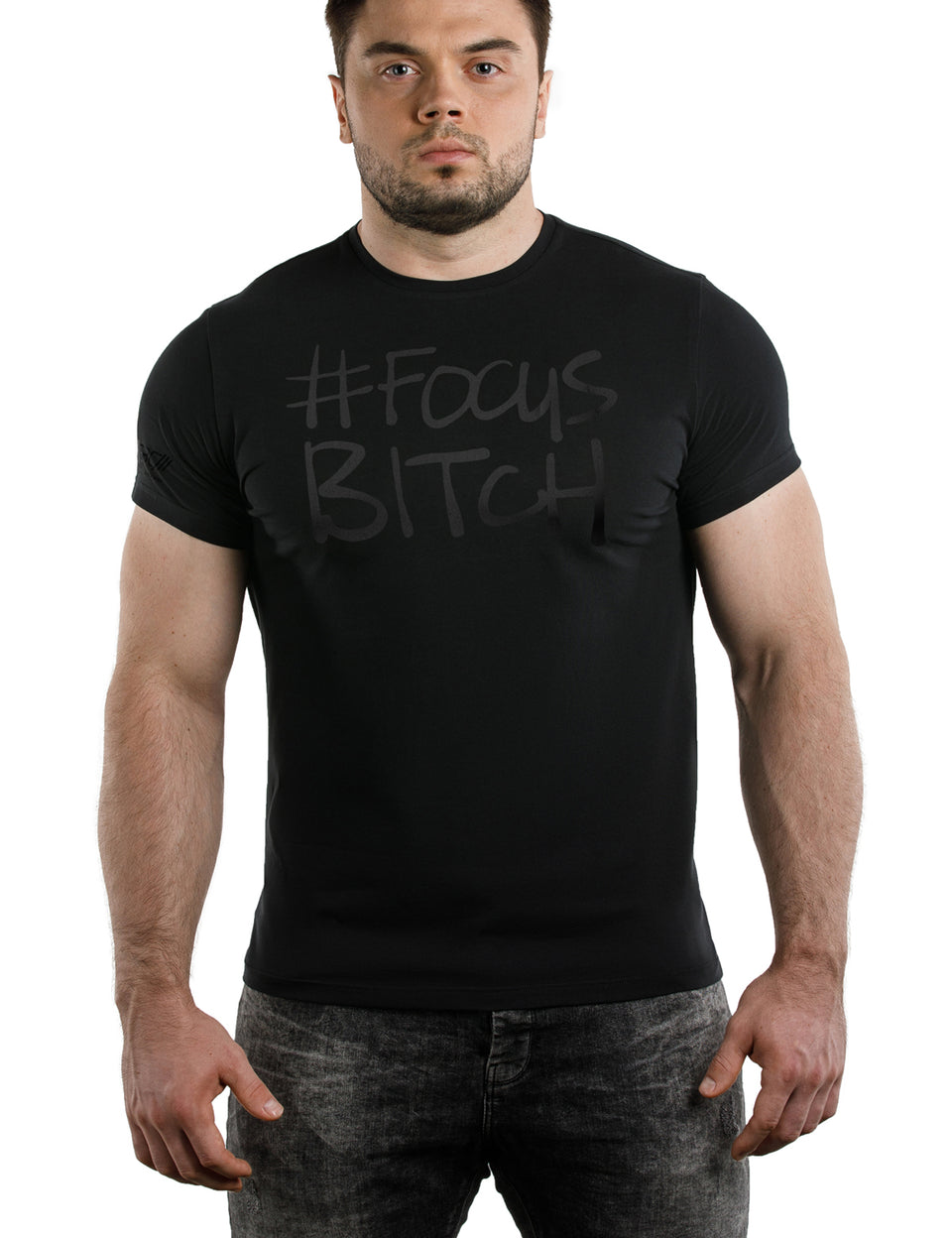 Warm Body Cold Mind #FocusB Black on Black T-Shirt