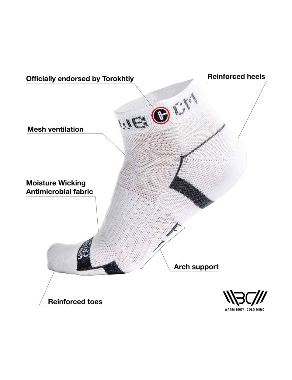 Warm Body Cold Mind weightlifting training socks