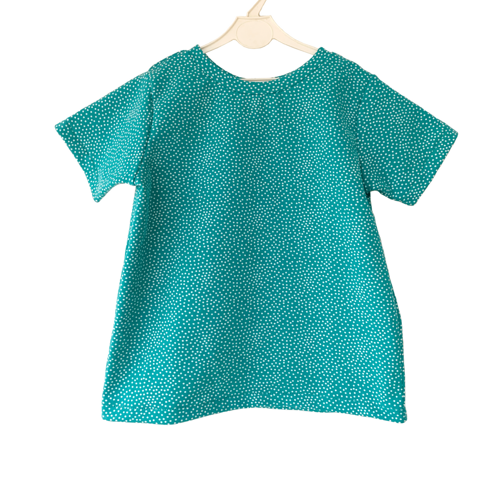 T-shirt | White dots on Teal
