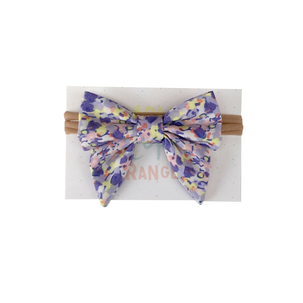 Hairbow | Lavender Floral