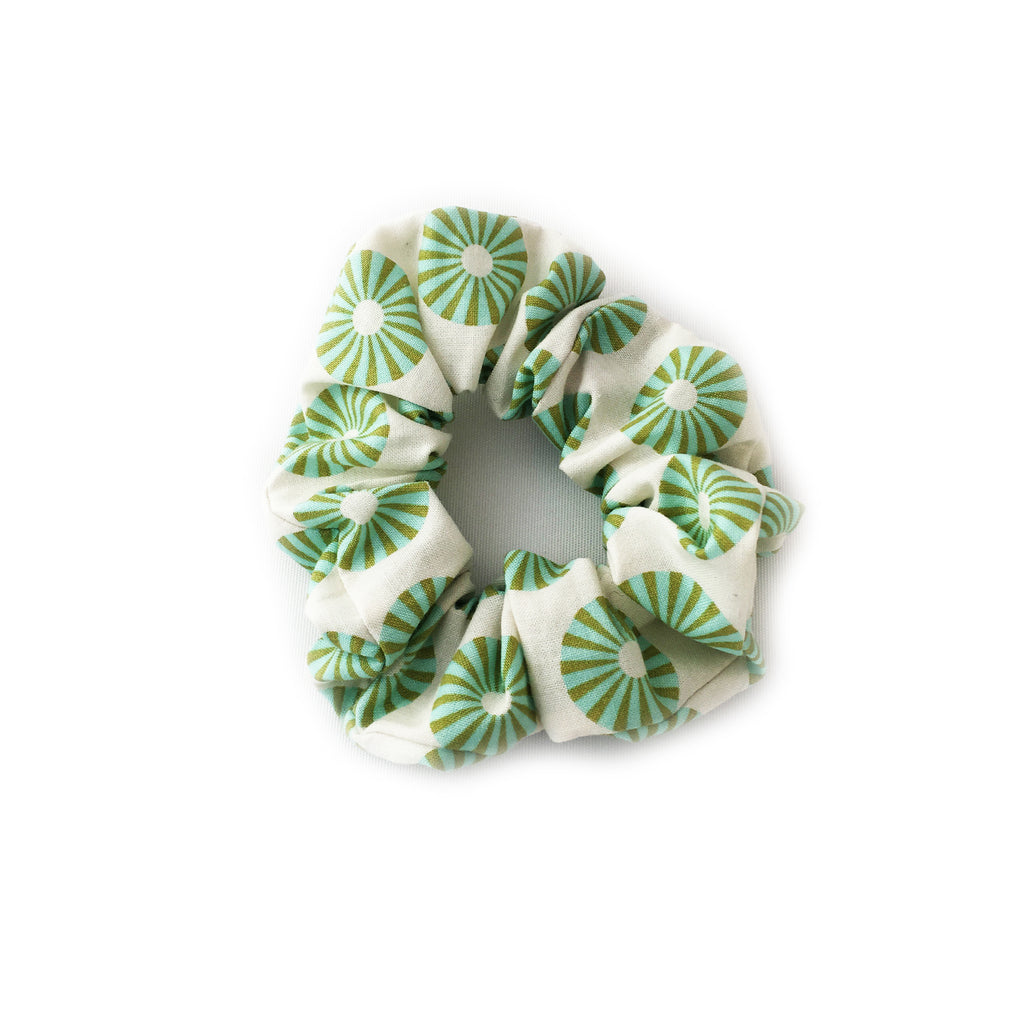 Hairtie | Green Circle Scrunchie