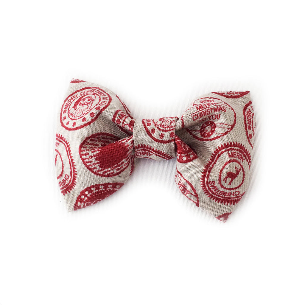 Bows | Red Santa Stamp
