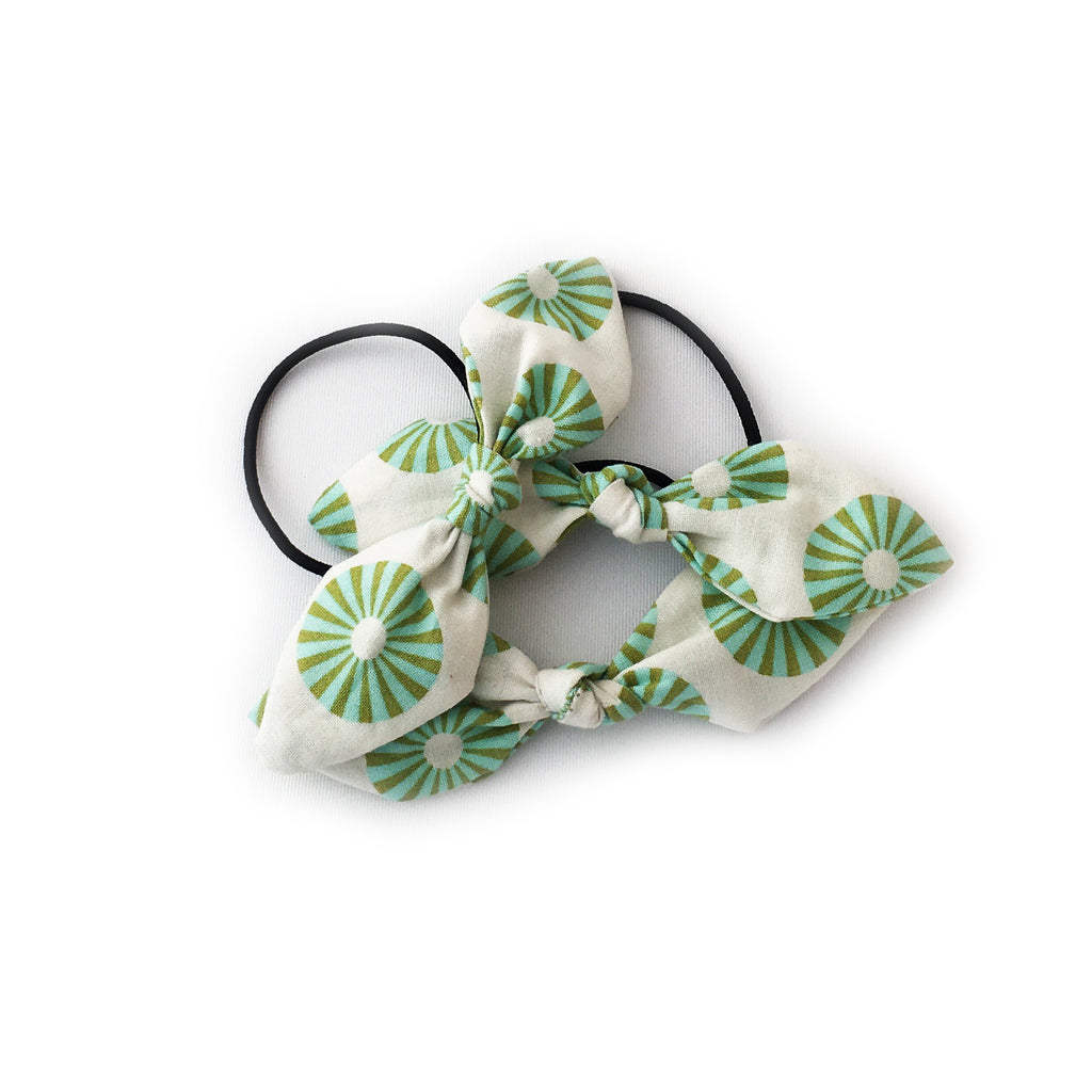 Hairtie | Green Circle Bow