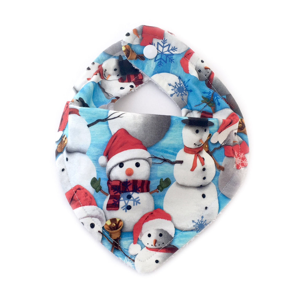 Bandana bib with snowman