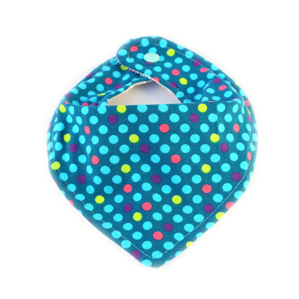 bandana bib with dots