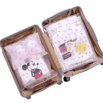 Trousse de toilette transparente flamant rose